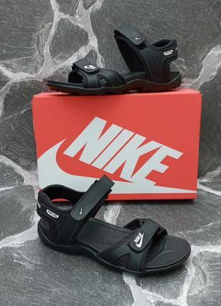 Мужские сандали nike acg sandals черные,кожаные,босоножки