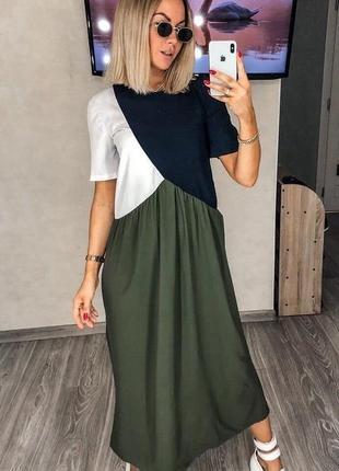 Супер легкое платье с ассиметрией