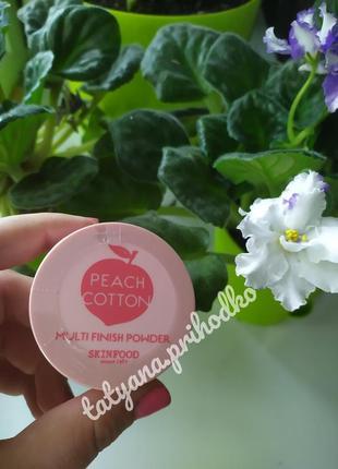 Рассыпчатая пудра с экстрактом персика skinfood peach cotton multi finish powder