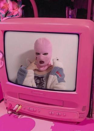 Балаклава розовая