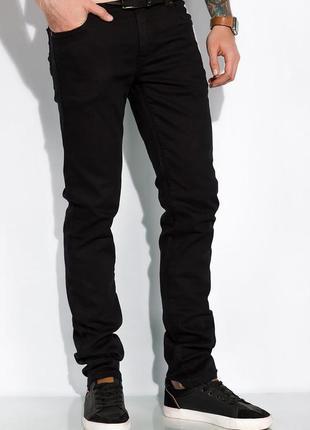 Новые базовые классические стильные мужские джинсы черного цвета