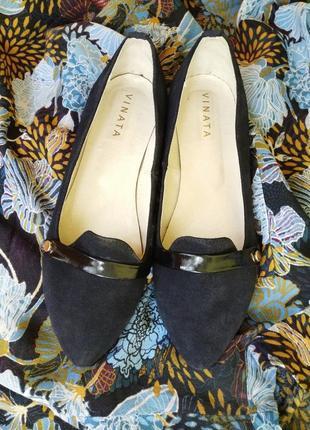 Стильные балетки туфли на низком каблуке