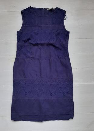 Платье с вышивкой,  100% лен
