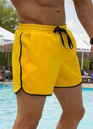 Пляжные шорты kaiju yellow