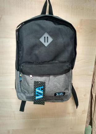 Сіро-чорний рюкзак ua lviv