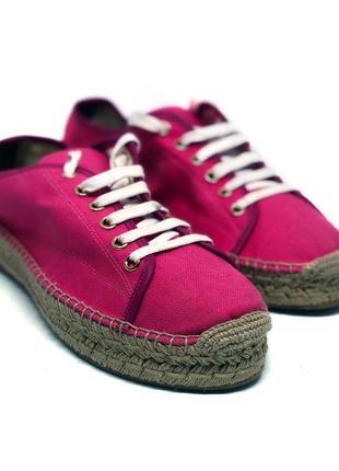 Эспадрильи ralph lauren розовые кеды