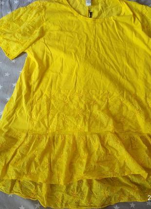 Шикарная,яркая блуза, туника,футболка вышивка, размер универсальный, италия 💖