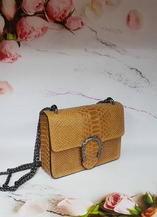 Итальянская сумка питон