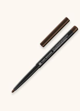 Водостойкий карандаш для контура глаз - коричневый - ив роше1 фото