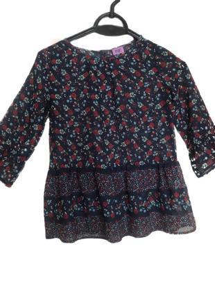 Прозрачная, летняя блузка на девочку 7-8 лет