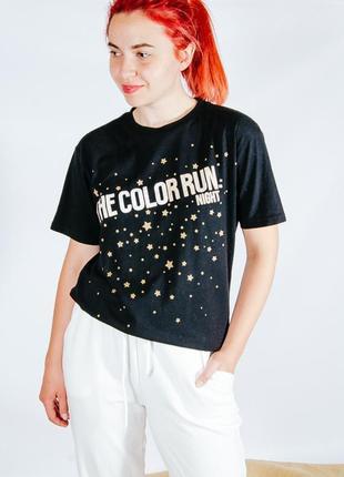 Черная футболка, женская футболка с принтом, оверсайз футболка черная, жіноча футболка