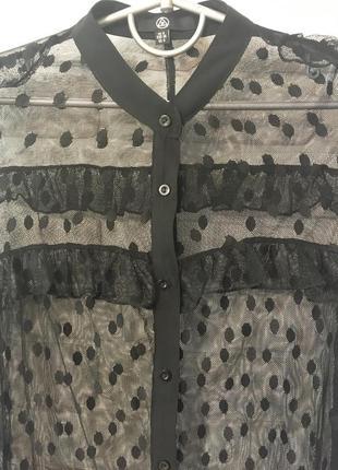 Накидка на платье в горошек.