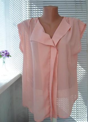 Нежная  шифоновая блуза