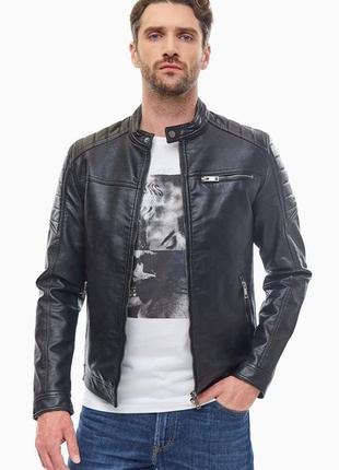 Новая! куртки jack jones { size l } куртка кожаная