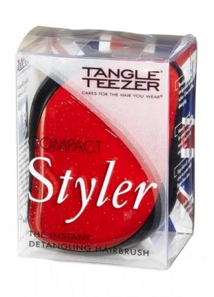 Щетка-расческа для волос tangle teezer compact (красная)