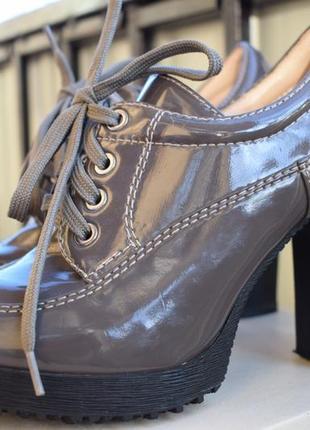 Кожаные мокасины туфли ботинки полуботинки ботильоны р.39/40  италия donna