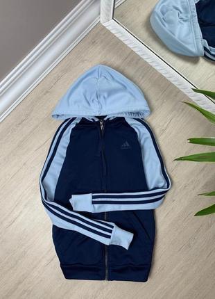 Adidas женский свитшот худи толстовка кофта адидас синяя оригинал