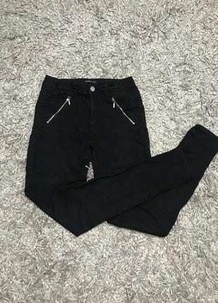 Чёрные джинсы брюки штаны reserved