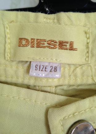 Капри на пуговицах оригинал diesel высокая посадка