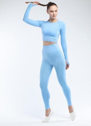Женский утягивающий бесшовный костюм для фитнеса,йоги,спорта,топ,леггинсы,лосины