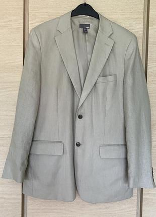 Жакет льняной мужской стильный модный hm размер 52