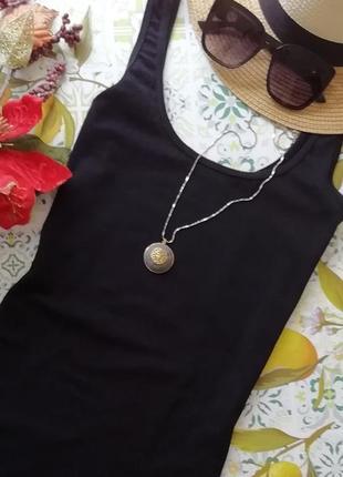 Платье трикотажные чёрное мини