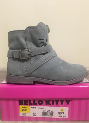 Ботинки hello kitty для девочки на ножку 17,5 см.