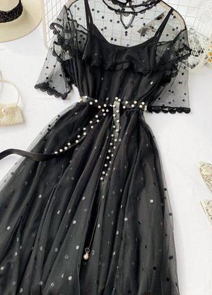 Нежное платье в 3х расцветках