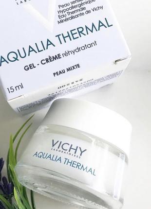 Крем - гель для глубокого увлажнения кожи, vichy aqualia thermal rehydrating cream gel