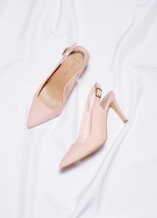 Женские босоножки на каблуке, классические туфли с острым носком, жіночі туфлі, босоніжки