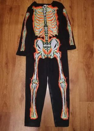 Детский костюм, карнавальный костюм скелета на хэллоуин, halloween f&f