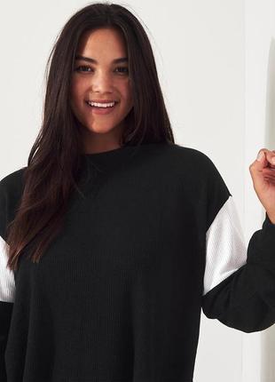 Hollister свободная укороченная топ кофточка холлистер широкая оверсайз футболка реглан
