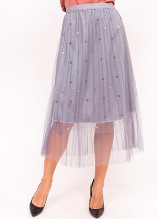 Фатиновая юбка с блестками