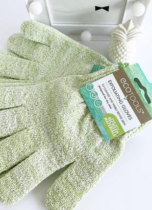 Мочалка-перчатки для душа ecotools exfoliating gloves. оригинал