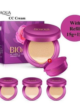 Кушон 15 g+сменный блок 15g bioaqua air cushion cc cream