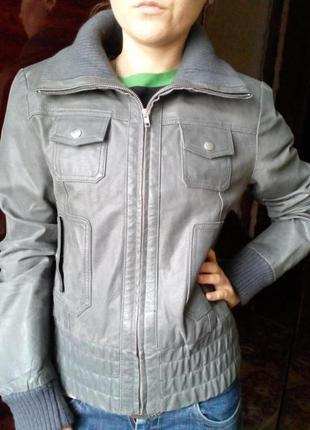 Оригинальная куртка vero moda 100 % кожа