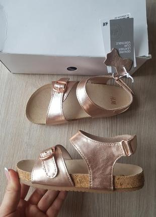 Шкіряні сандалі  н&м
