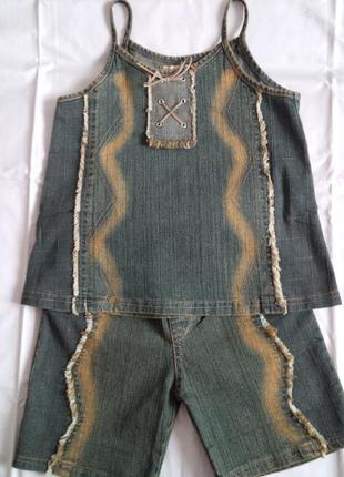 Новый красивый джинсовый набор для девочек.