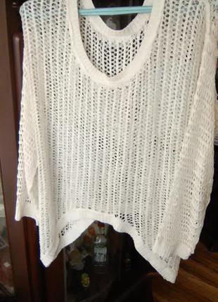 Ажурная плетеная кофта gina xl