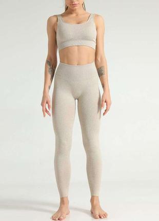 Женский бесшовный  спортивный костюм для йоги,фитнеса,бесшовные леггинсы,лосины,топ