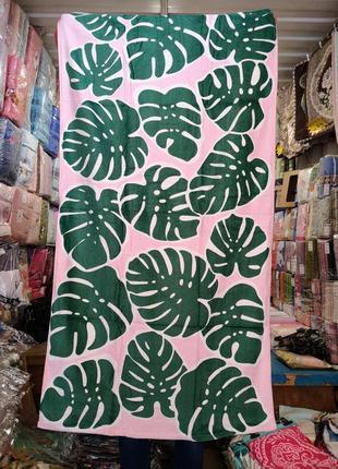Пляжное полотенце большие листья