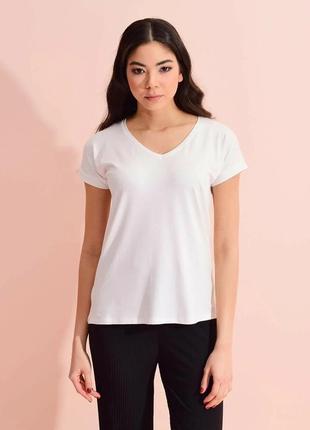 Базовая белая футболка, женская футболка, жіноча футболка