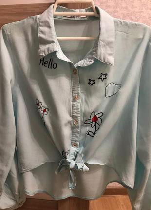 Рубашка укорочённая