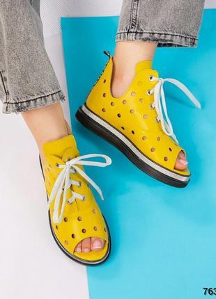 Ботинки летние на шнуровке