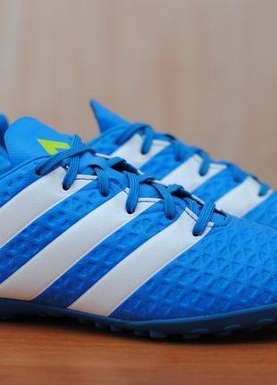 Голубые футзалки, сороконожки, копы adidas ace 16.4 tf, 40 размер. оригинал