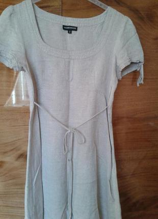 Симпотное платье лен, стильное нежное