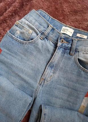 Актуальные джинсы мом на высокой посадке р. м 1+1=3 ♥