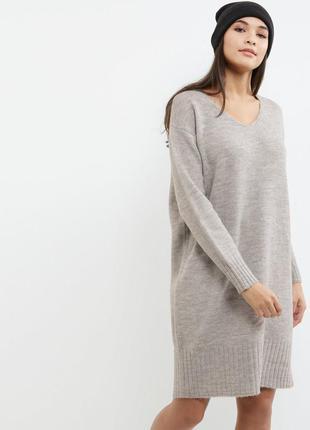 Теплое брендовое платье  new look р. m ,l  привезено из   англии