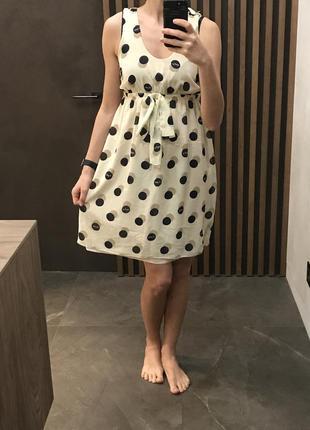 Платье в горох из шифона s-m zara