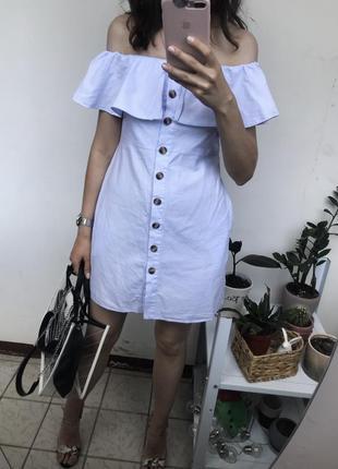 Платье , сарафан с открытыми плечами xs-s